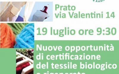 Nuove opportunità di certificazione del tessile biologico e rigenerato
